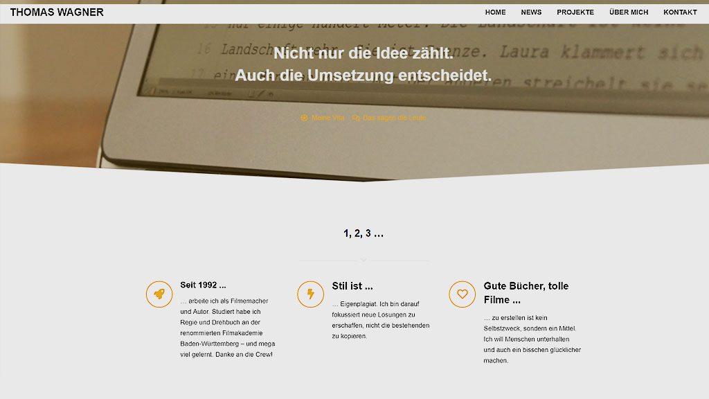 Betragsbild- Neue Webseite von Thomas Wagner - Autor und Regisseur