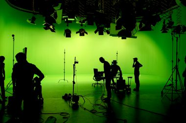 Studio Dreh mit Green Screen